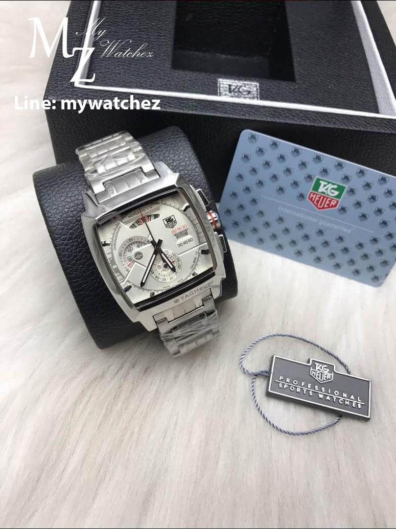 TAG HEUER Monaco Calibre12LS Quartz Chronograph,Black(40.5 mm)ST.Steel - White Dial