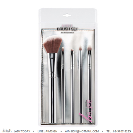 ASHLEY MATERIAL BRUSH SET : SILVER