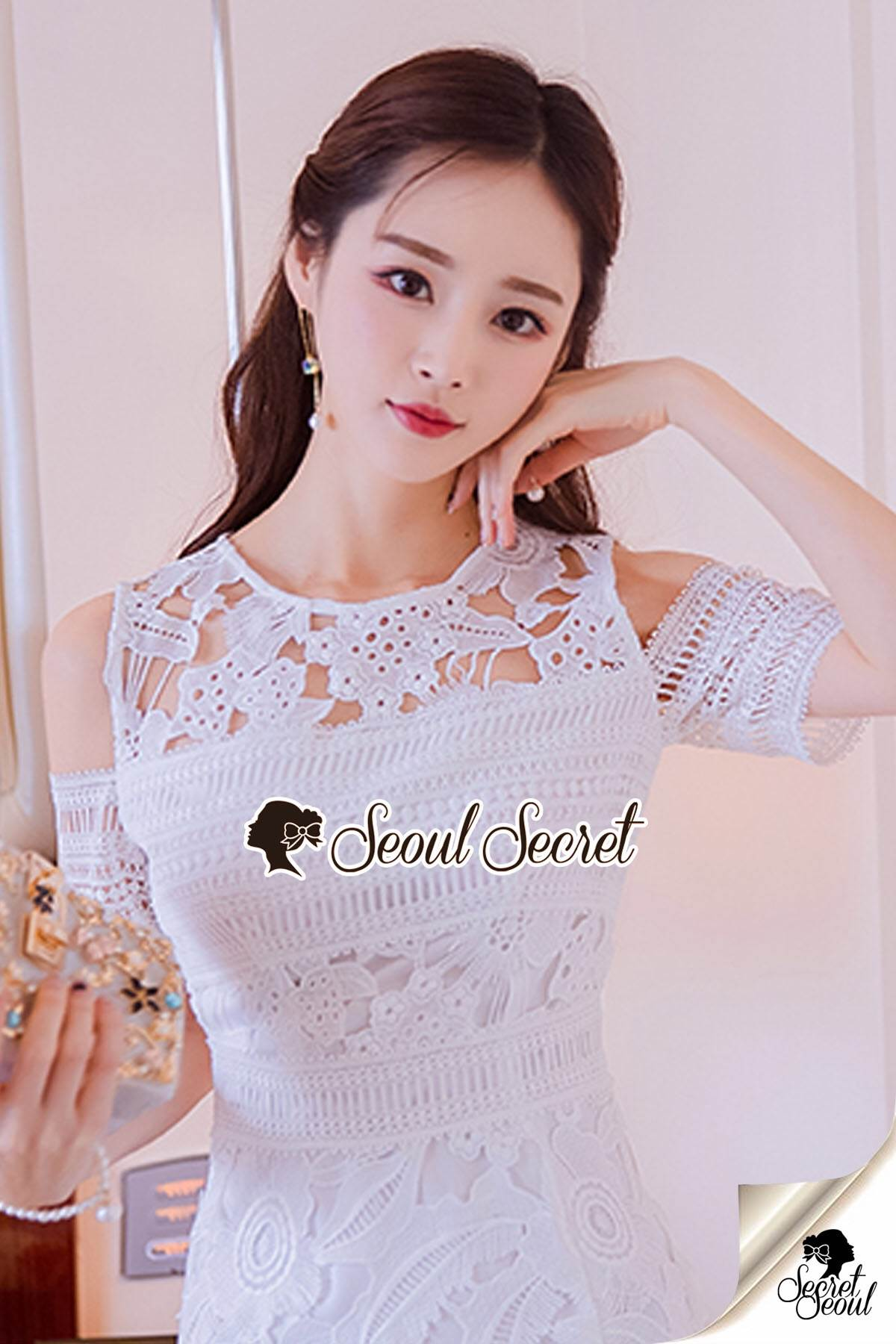 Seoul Secret Say's... Princess Lace Maxi Dress