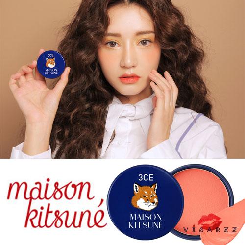 3CE Maison Kitsune Soft Cheek #Sweet Maringue 9g บรัชออนปัดแก้มสีน่ารัก แพคเกจน่าเลิฟ จากคอลเลคชั่นเมซอง คิทึเนะ ที่มีน้องจิ้งจอกน้อยเป็นธีมหลัก