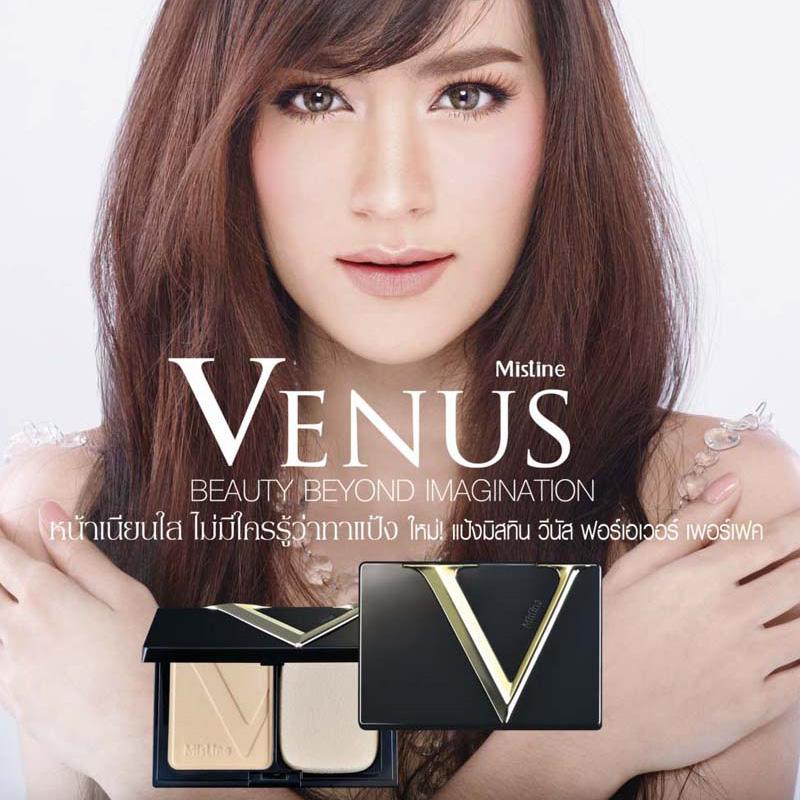แป้งมิสทิน/มิสทีน วีนัส ฟอร์เอเวอร์ เพอร์เฟค ซุปเปอร์ เพาเดอร์ เอสพีเอฟ25พีเอ++ / Mistine Venus Forever Perfect Super Powder SPF25PA++