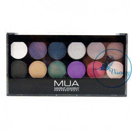 MUA Glamour Nights Eyeshadow Palette เน้นสีโดดเด่น สำหรับออกงานกลางคืน อายแชร์โดว์คุณภาพดีจากประเทศอังกฤษ