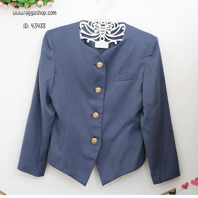 43488 size38 เสื้อสูทสีน้ำเงิน
