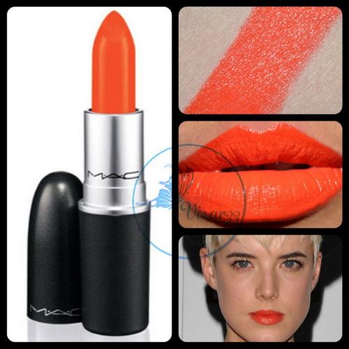 MAC Amplified Creme Lipstick 3g # Morange ลิปสติกสีส้มสดสุดฮิต เป็นสีที่ทาแล้วหน้าสว่าง เก๋ๆ ได้ทั้งในวันทำงานและ Hang Out กะเพื่อนๆ ค