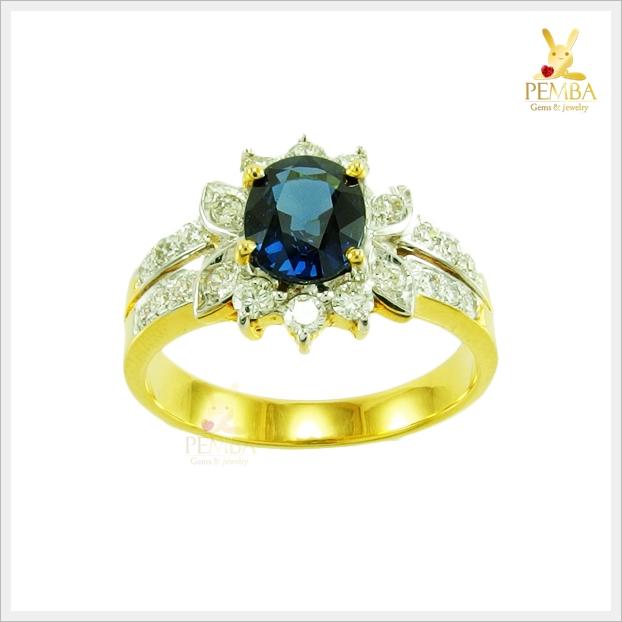 แหวนไพลินจันท์ หายาก ดีไซน์สวยเก๋ดูดีมีสไตล์(สอบถามราคา)
