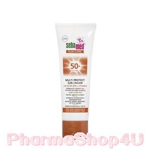 Sebamed Multi Protection Sun Cream SPF 50++ 75mL ซีบาเมด มัลติ โพรเทค ซัน ครีม เอสพีเอฟ 50+ ปกป้องผิวจากรังสี UVA และ UVB