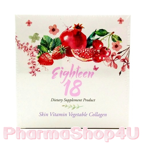 (ผิวสวยใส) Eighteen 18 มีสารต้านอนุมูลอิสระ ช่วยให้ผิวพรรณสดใส 30 เม็ด เอธทีน 18 เต่งตึง ปกป้อง DNA ป้องกันผิวหมองคล้ำ จากแสงแดด เพิ่มความสดใสอย่างเป็นธรรมชาติ