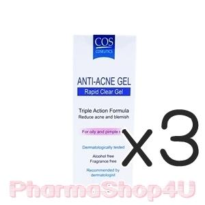 (ซื้อ3 ราคาพิเศษ) COS COSEUTICS Anti Acne Gel 5mL คอส โคซูติส แอนตี้ แอคเน่ เจล 5 มิลลิลิตร เจลแต้มสิว สูตรซึมเร็วภายใน 1 นาที
