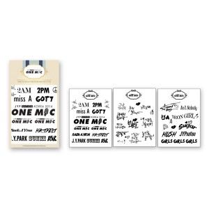 [PRE-ORDER] JYP NATION KOREA 2014 ONE MIC Tatoo Sticker