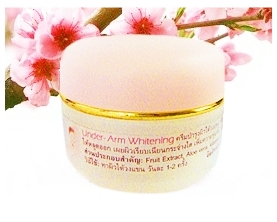 Under Arm Whitening Cream ครีมทารักแร้ขาว ช่วยให้ผิวใต้วงแขนขาวใสเรียบเนียน ช่วยชะลอการเกิดใหม่ของเส้นขน