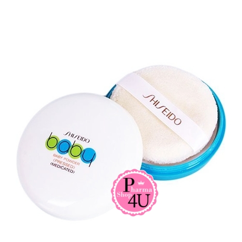 Shiseido Baby powder Pressed Medicated 50g แป้งเด็ก แป้งอัดแข็งไม่ก่อให้เกิดสิว ใช้ได้ทุกสภาพผิว