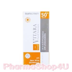 VITARA Sun Screen SPF50 PA++ พลัส Glutathione 25g บำรุงผิว ปกป้องแสงแดด กันน้ำ