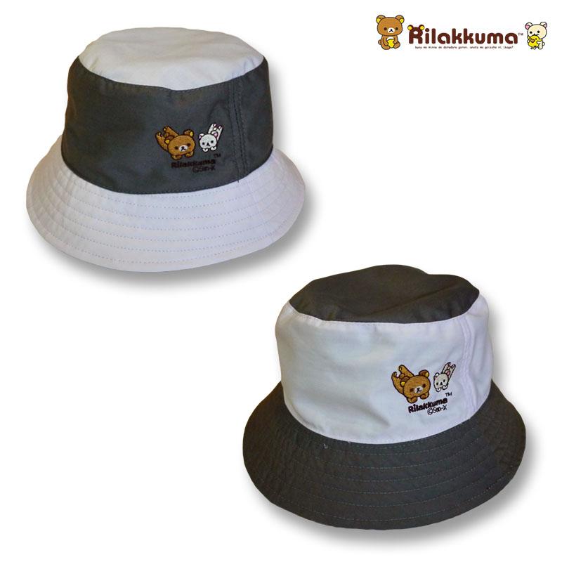 หมวกเด็กปีกรอบ ทรง bucket ลายริลัคคุมะ
