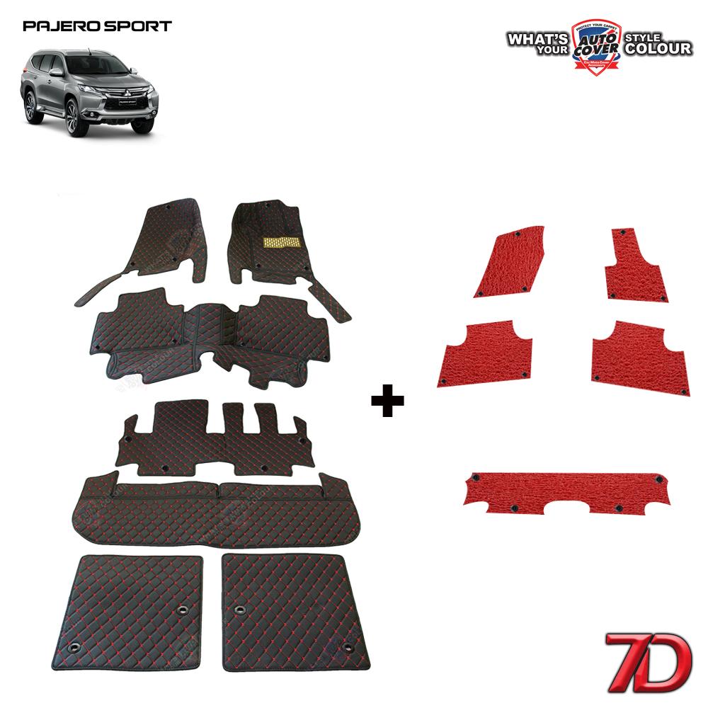 พรมรถยนต์ 7 D Anti Dust รถ MITSUBISHI ALL NEW PAJERO SPORT 2015-2019