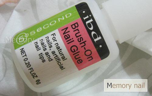 กาวต่อเล็บ PVC แบรนด์ IBD แบบภู่กัน