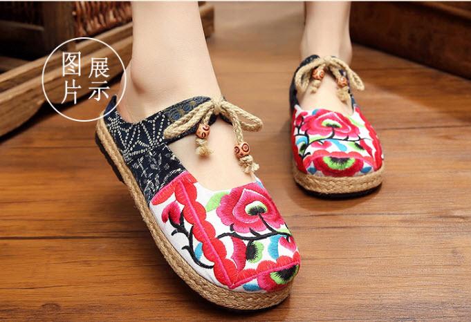 รองเท้าจีนลายปัก