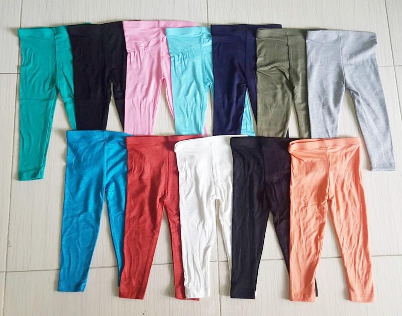 กางเกงเลคกิ้งผ้ายืด ( แพค 5 ตัว)