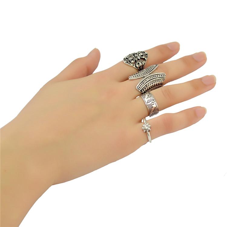 พร้อมส่ง เซทแหวนโบฮิเมี่ยน 4วง