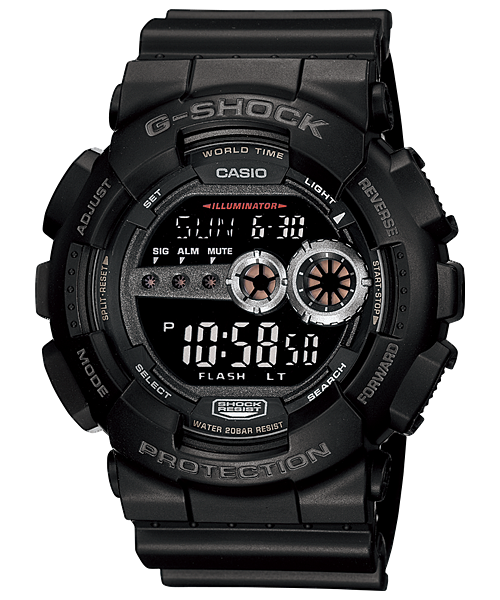 """นาฬิกา คาสิโอ Casio G-Shock Standard digital รุ่น GD-100-1B """"Black Gundum"""""""