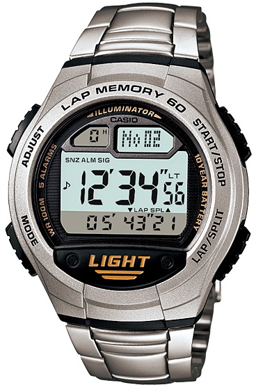 นาฬิกา คาสิโอ Casio 10 YEAR BATTERY รุ่น W-734D-1A ของแท้ รับประกัน 1 ปี