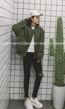 (ภาพจริง) เสื้อคลุม แขนยาว ซิปหน้า ผ้า poly ester สีเขียว
