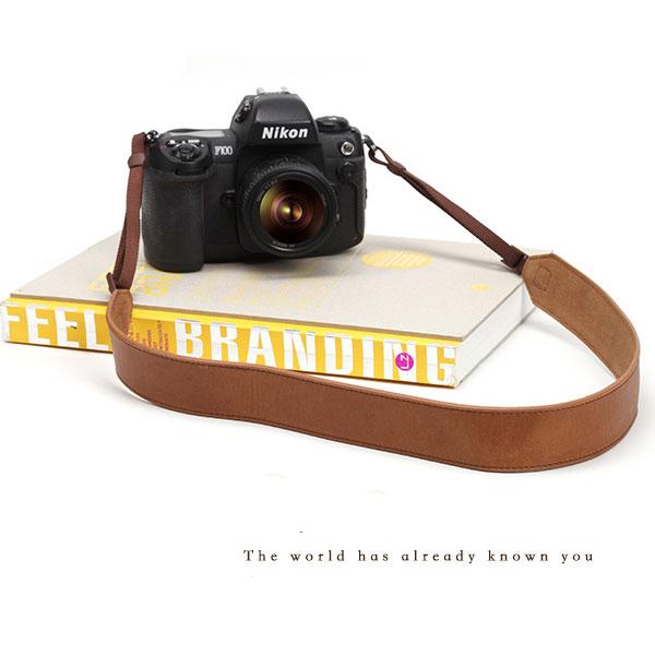 สายกล้องหนังแท้คล้องคอ cam-in รุ่น Max Leather