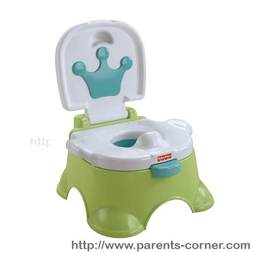 กระโถนร้องเพลง Fisher-Price Royal Stepstool Potty: 3 step-สีเขียว