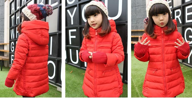 C119-22 เสื้อกันหนาวเด็กสีสวยบุนวม แขนเสื้อยาวกันหนาวได้ มีฮูท สวยอุ่นสบายๆ size 120-160