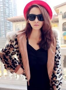 พร้อมส่ง-เสื้อแจคเกตกันหนาวขนเฟอร์ลายเสือ