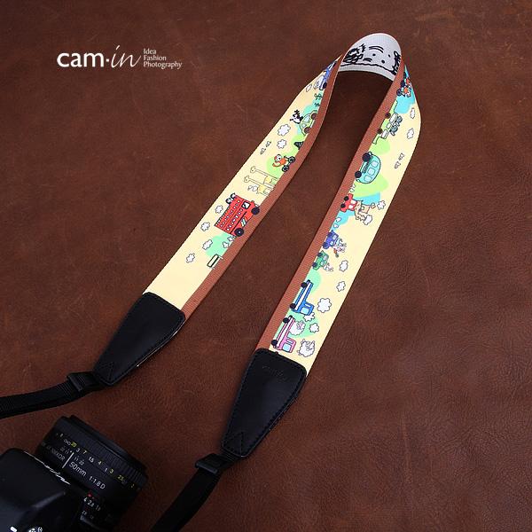 สายคล้องกล้องลายการ์ตูนรถโรงเรียน cam-in Back to school