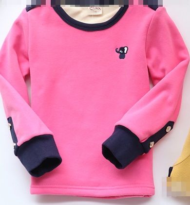 C120-26 เสื้อกันหนาวเด็กสีชมพูสวย รุ่นซูเปอร์ซอฟท์ ปักลายน่ารัก ผ้านุ่มมาก ใส่อุ่นสบายๆ