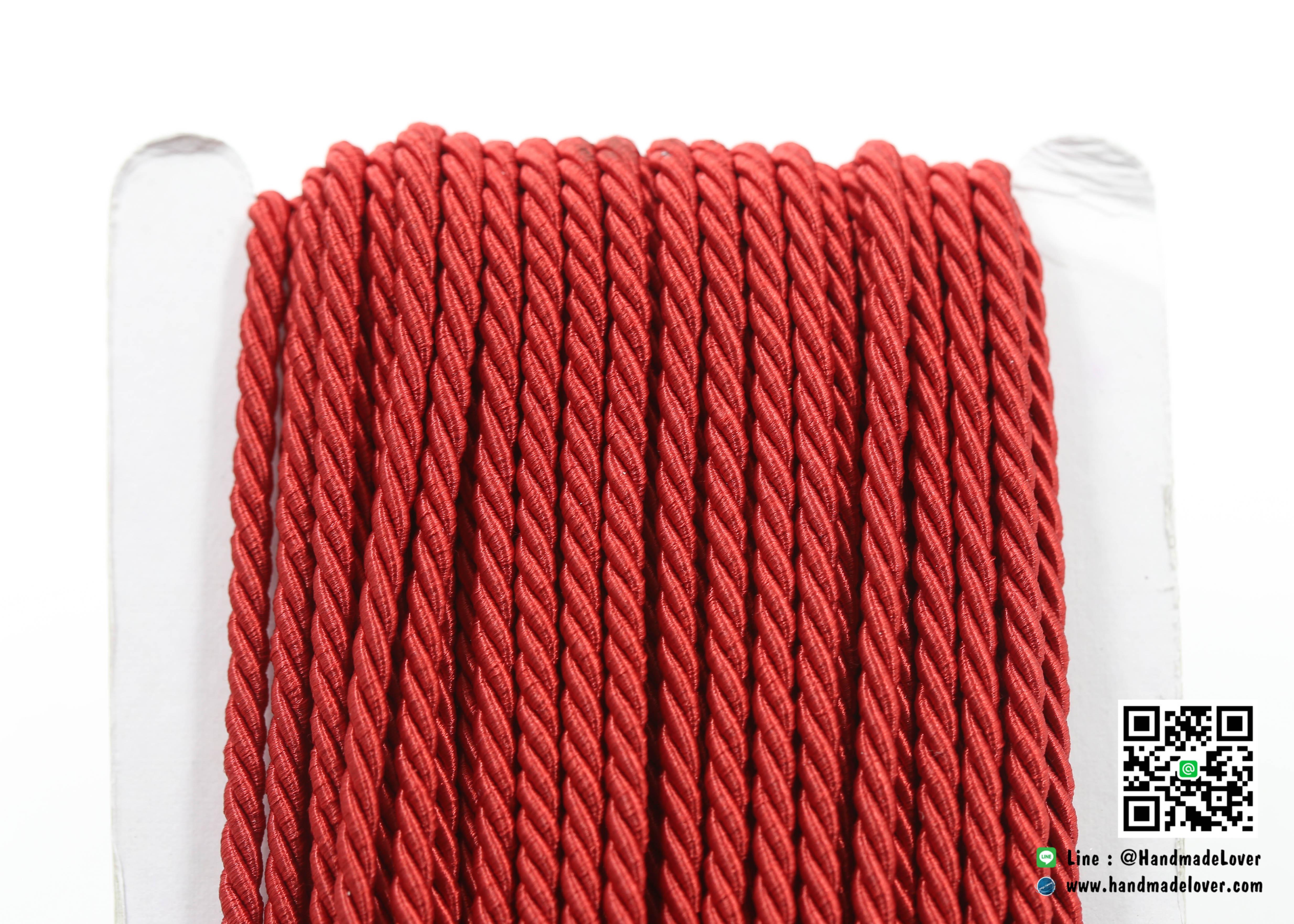เชือกเกลียว สีแดงเข้ม [73] ขนาด 3 mm.