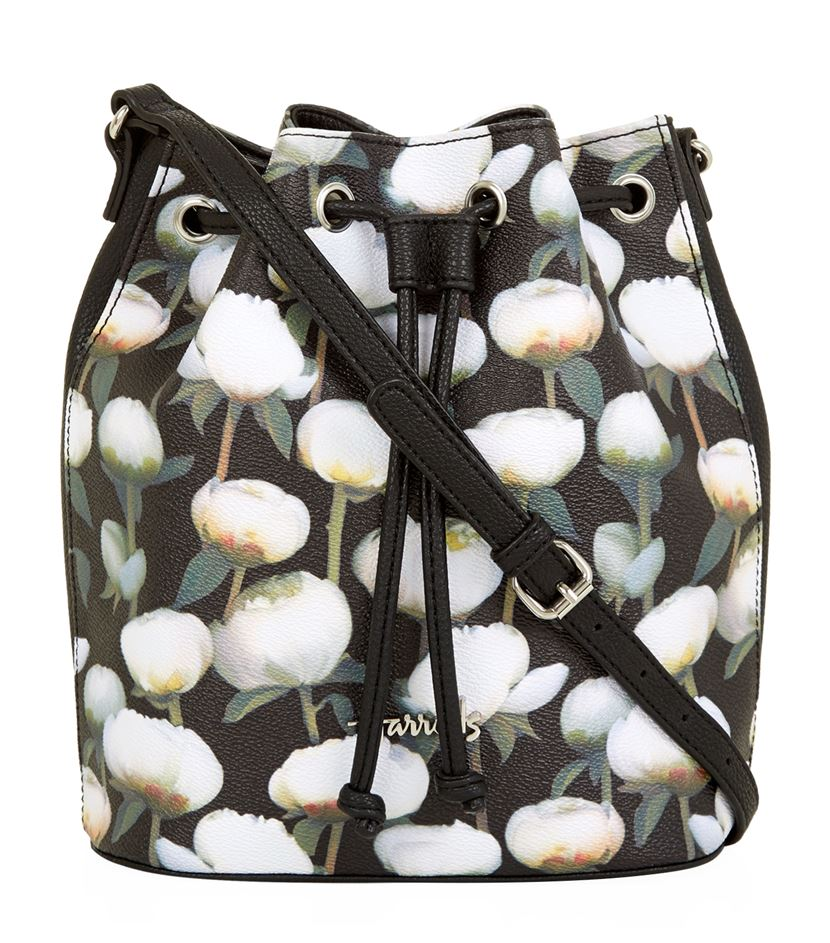 กระเป๋าแฮร์รอดส์ลายดอกโบตั๋นของแท้ Peony Floral Drawstring Bag