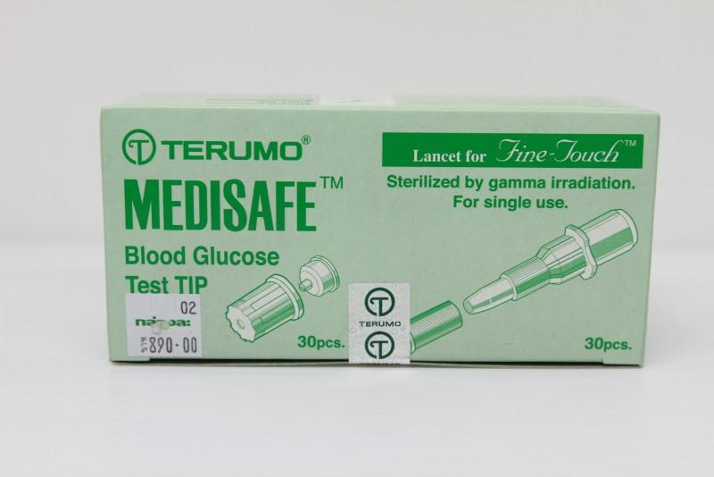 ชุดตรวจวัดน้ำตาล ยี่ห้อTerumo test + เข็ม 1 กล่อง (อย่างละ 30ชิ้น)