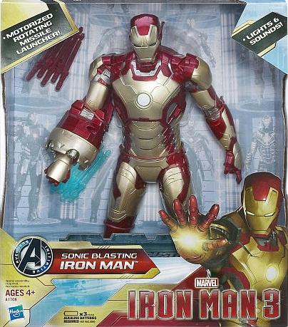Iron Man 3 Action Figure 15 Inch Sonic Blast - Iron Man Mark 42
