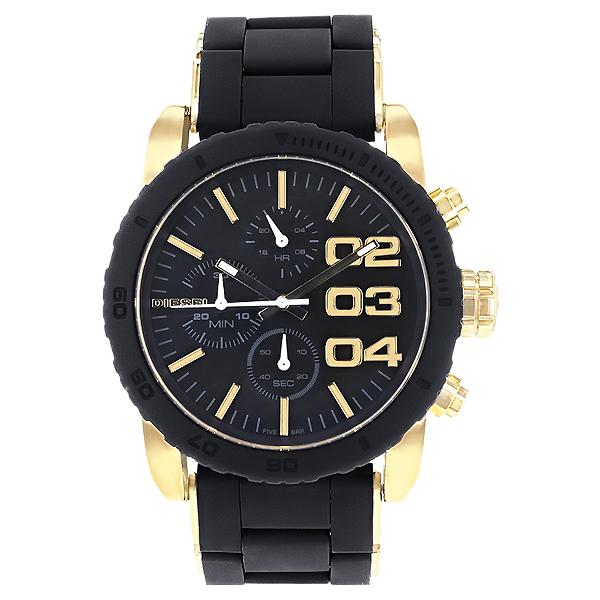 นาฬิกาข้อมือ ดีเซล Diesel Stainless Steel Case Silicone Bracelet Black Dial Chronograph รุ่น DZ5322