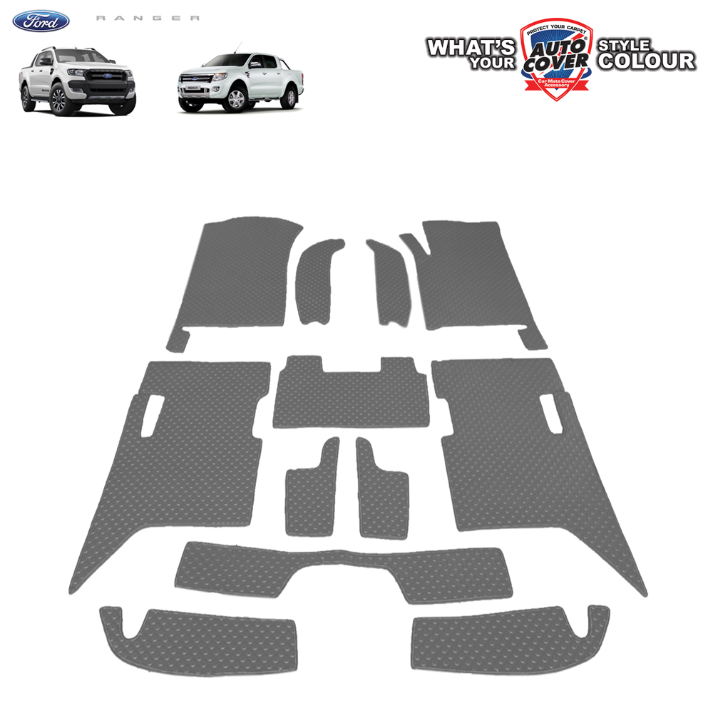 พรมกระดุม Super Save รถ Ford Ranger 4 Door ปี 2012-2018 ชุด Full จำนวน 12 ชิ้น