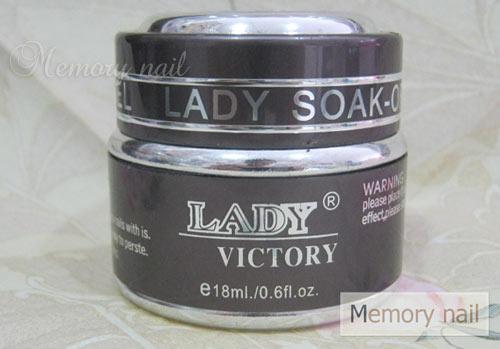 เจลต่อเล็บ LADY กระปุกเล็ก 0.6 ออนซ์ สีใส