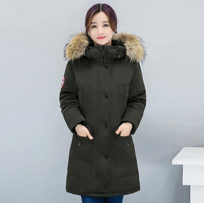 เสื้อกันหนาวผู้หญิงแฟชั่นเกาหลี สีเขียวทหาร แจ็คเก็ตมีฮู้ด มีเฟอร์ขนสัตว์ ไอเทมเด็ด หนาวนี้ ต้องมี