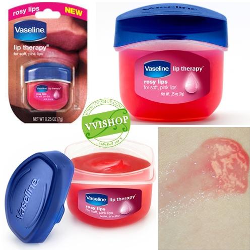Vaseline Lip Therapy 7 g # Rosy Lips สีชมพูใสๆ กลิ่นกุหลาบ วาสลีนสำหรับบำรุงริมฝีปากโดยเฉพาะ ชุ่มชื่น อ่อนโยน หอมอ่อนๆ ขนาดกำลังน่ารัก