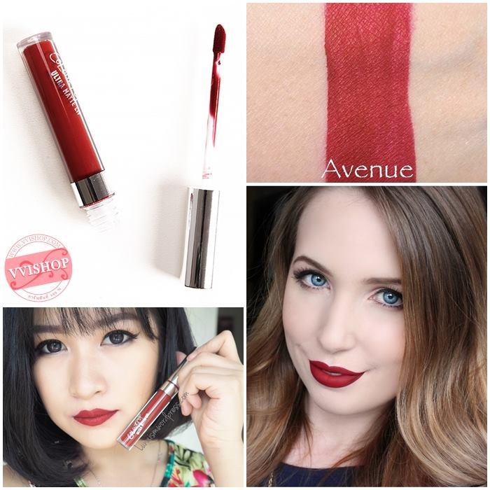 Colourpop Ultra Matte Lip #Avenue : deep yellow red แดงกำมะหยี่แบบเข้มๆ แต่ไม่ถึงกับแดงดำ