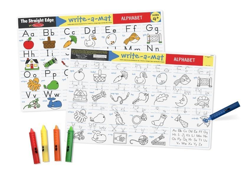 แผ่นรองจานแสนสนุก Write-A-Mat Learning Mat - Alphabet