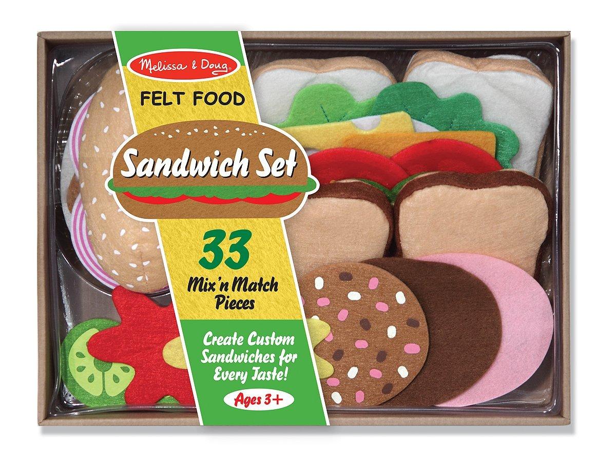 อุปกรณ์ทำแซนวิช Melissa & Doug Felt Food - Sandwich Set พร้อมส่ง