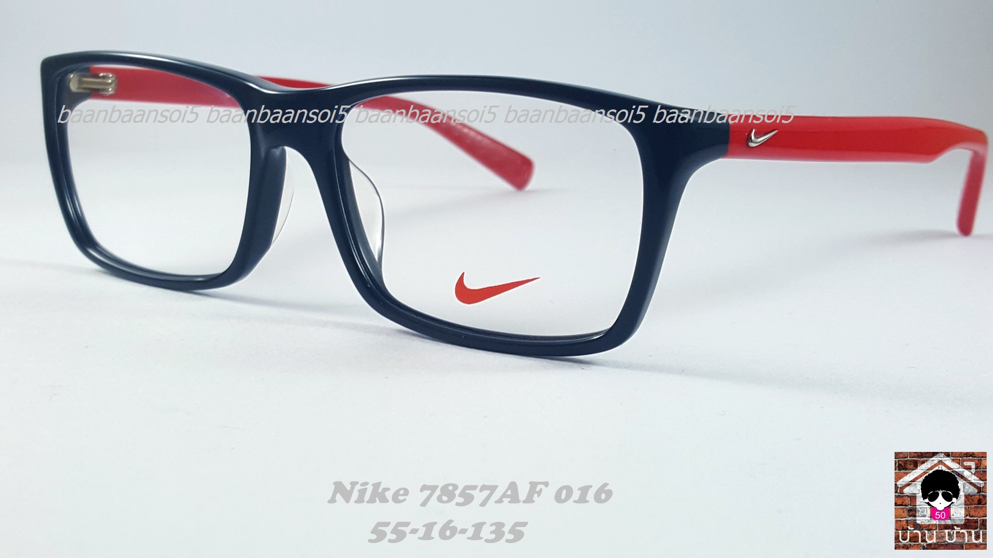 NIKE BRAND ORIGINALแท้ 7857 AF 016 กรอบแว่นตาพร้อมเลนส์ มัลติโค๊ตHOYA ป้องกันรังสีคอม 3,200 บาท
