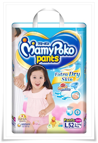 Mamy Poko Pants (Girls) ไซส์ L ขนาด 52 ชิ้น ** ไม่รวมค่าจัดส่ง