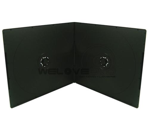 2 Disc VCD Slim Case Black (10 pcs)