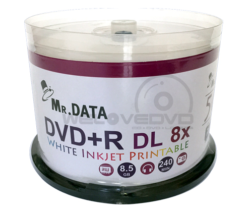 Mr DATA DVD+R DL 8X Printable (50 pcs/Cake Box)