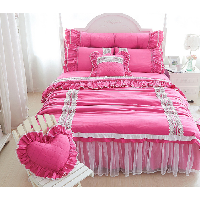 Pre-Order ผ้าปูที่นอนเจ้าหญิง มี 7 สี เลือกด้านในค่ะ