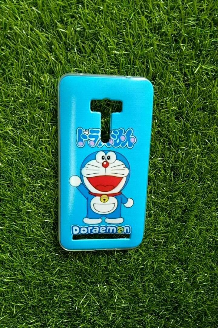 TPU ใสเส้นนูนแมวสีฟ้าเต็มตัว Zenfone Selfie5.5(ZD551KL)