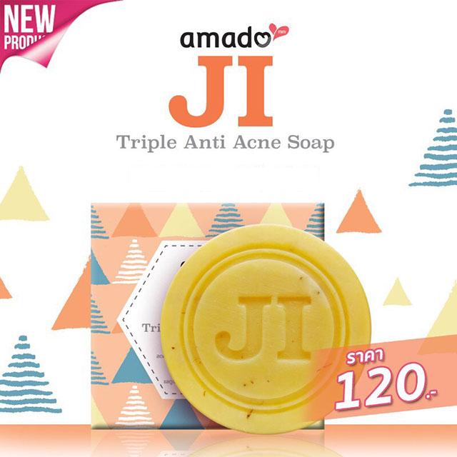 Amado JI Triple Anti Acne Soap สบู่อมาโด้ เจไอ ทริปเปิ้ล แอนตี้ แอคเน่
